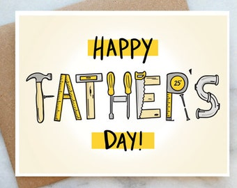 Fathers Day Toolkit Card Fathers Day Card Dad Tool Card Tools for Dad Father Card Happy Fathers Day Card Toolbox