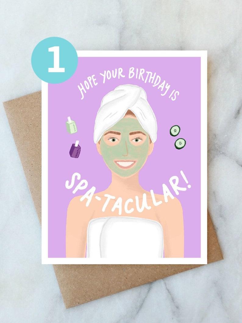Spa Birthday Card Spa Day Birthday Card Spa-tacular Birthday Greeting Card Day at the Spa Card Customizable Card Personalized Birthday Card