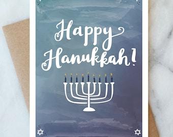 Happy Hanukkah Card for Family Husband Wife Chanukah Holidays Card Celebrate Happy Holidays Card