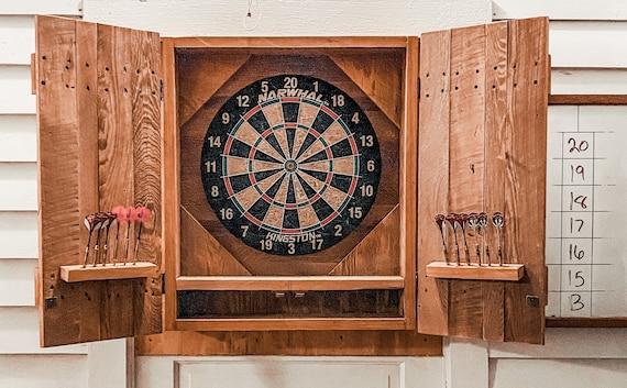 Cypress Wood Dartboard Cabinet