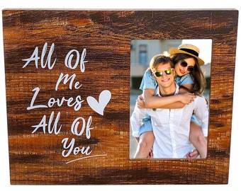 Love Picture Frame - Couples Gifts for Boyfriend and Girlfriend, Love Gifts for Him, Love Gifts for Her, Wedding Gifts, Anniversary Gifts