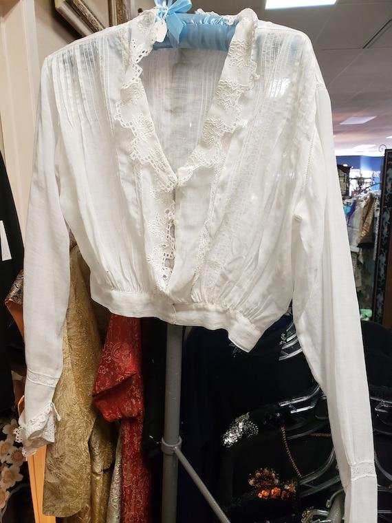 Vintage Victorian white cotton blouse
