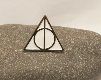 DEATHLY HALLOWS Symbol Pin- Enamel Metal Lapel Pin Badge