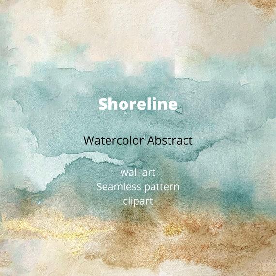 Watercolor Ocean Background, Creative, Watercolor Painting, Ocean  Background Background Image for Free Download