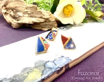 Handmade 3 pieces Kintsugi earring