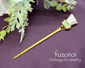 Handmade Kintsugi hair accessory