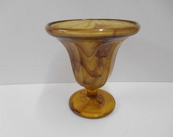 George Davidson number 294 amber cloud glass vase.