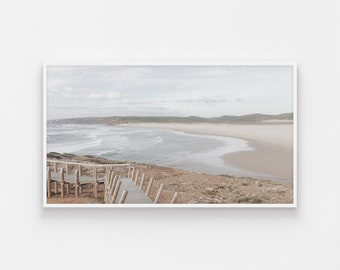 Samsung Frame TV, Portugal Beach, Coastal Art Frame Tv, Beach Digital Art, Algarve Photo Art, Samsung Art Frame, Digital Art for Frame Tv