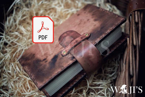 Leather Notebook pattern| Leather Book cover pattern PDF | leather Journal cover PDF | Leather Pattern Pdf| Book cover pdf|Journal cover pdf
