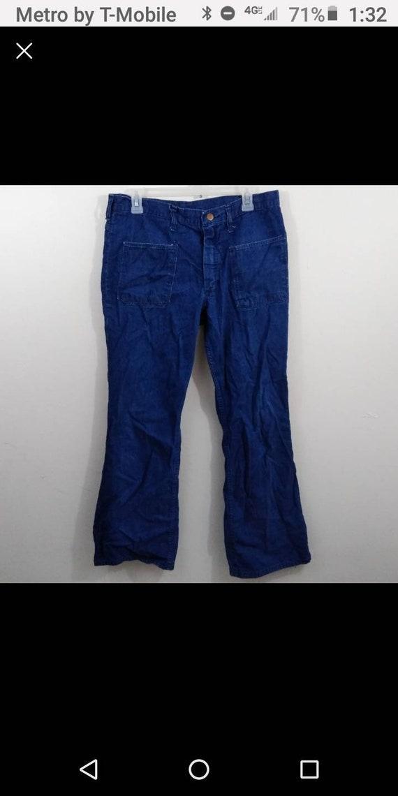 Men's 36x32 Vintage wrangler blue Bell blue jeans