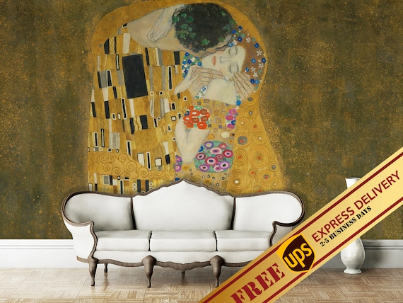 US Love Kiss Abstract Art Paint Wall Mural Picture Nonwoven Print Bedroom Decor