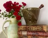 Louis Herbert ceramic apothecary mortar and wood pestle