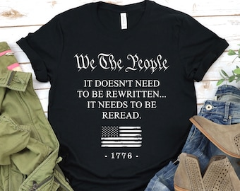 Details about  /We The People Are Pissed Unisex Crewneck T-Shirt