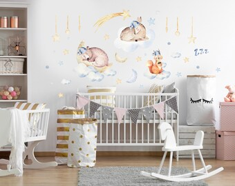 Wall Decal Baby Room Quote Fairy Elf Stars M2014