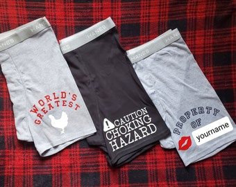 Gift for Him, Gift For Men, Anniversary Gift For Him, Birthday Gift for Him, Gift for Husband Boyfriend, Mens Custom Boxers, Cotton 2nd year