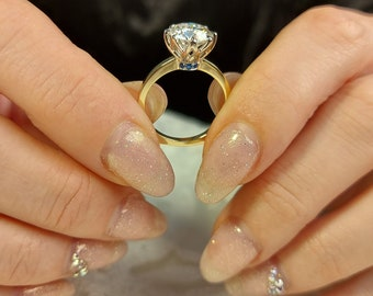 Vintage Diamond Victorian Ring 2.5 Ct Crushed Ice Oval Cut Moissanite Ring Customize Bridal Sets Ring 14K White Gold Promise Ring For Her