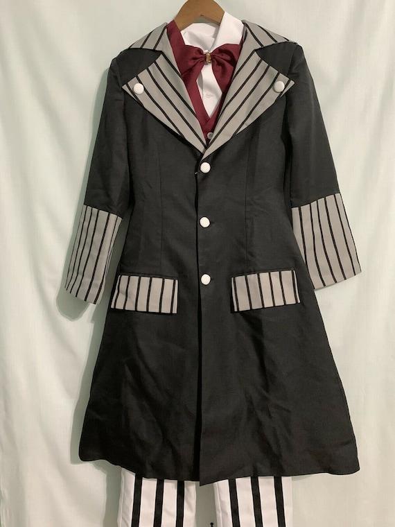 New Black Butler Kuroshitsuji Undertaker Full Set Cosplay Costume outfit Unisex