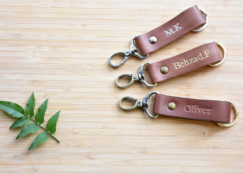 gift for himPersonalized  Keyring  leather KeychainLeather gift Handmade Gift
