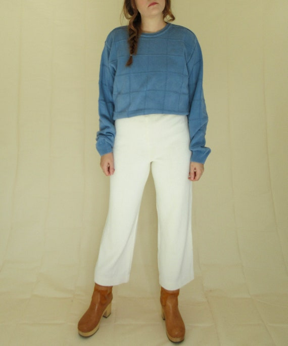 Dusty Blue Cotton Sweater
