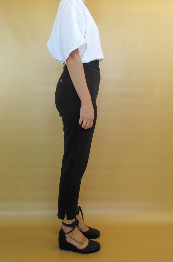 Vintage Black Cigarette Pants