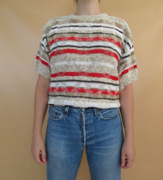 Short Sleeve Knit Sweater - Deadstock NWT