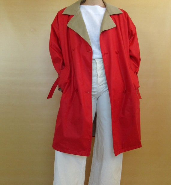 Classic Red Trench Coat