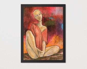 Volcan (Framed Print)