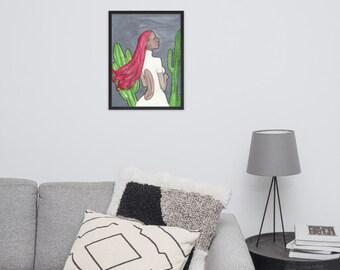 Cactus Raddish (Framed Print)