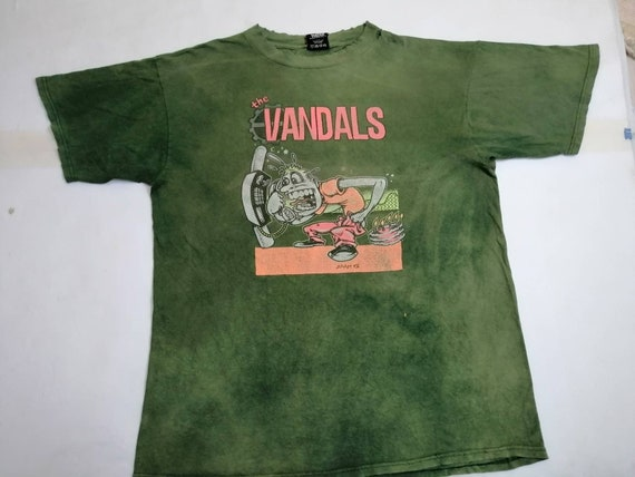 Vintage The Vandals Adams Punk Rock T Shirt Rare