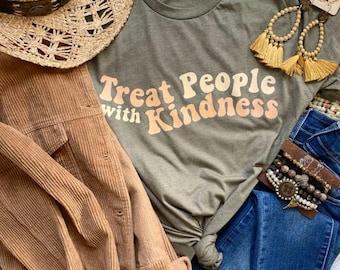 Treat People With Kindness Shirt, Retro Shirt, Retro T-Shirt, Kindness Shirt, Be Kind Shirt, Be Kind T-Shirt,
