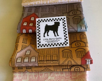 Fat Quarter Bundle - Houses   Make a House Warming Gift   House Fabric