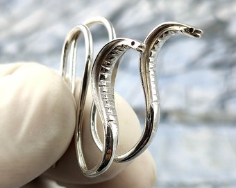 New 24K Gold Plated Rattle Snake King Cobra Ring Pick your SIZE Jewelry