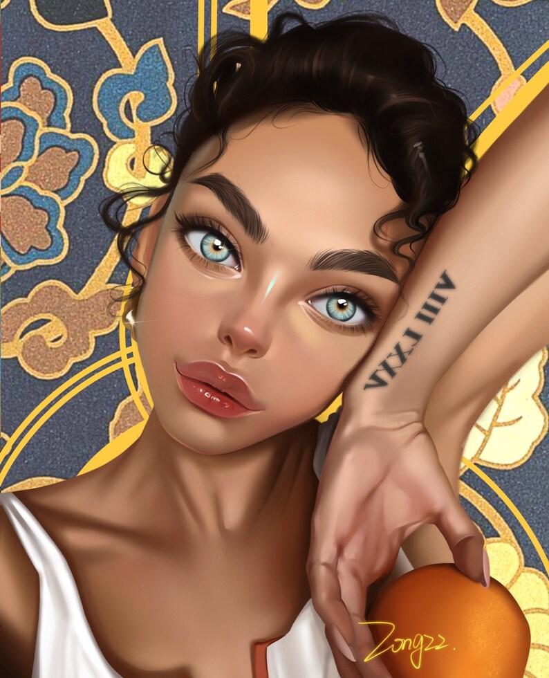 Custom Portrait Gift Digital Art Painting by Zongzz