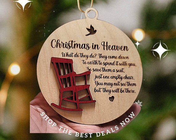 Christmas in Heaven Wooden Ornament