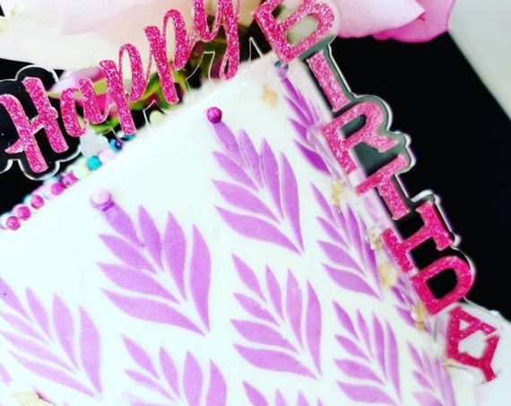 Doble Acrylic Cake Topper | Personalized Cake Topper | Acrylic Cake Topper/ Custom Acrylic Cake Topper /Happy Birthday Acrylic Cake Topper