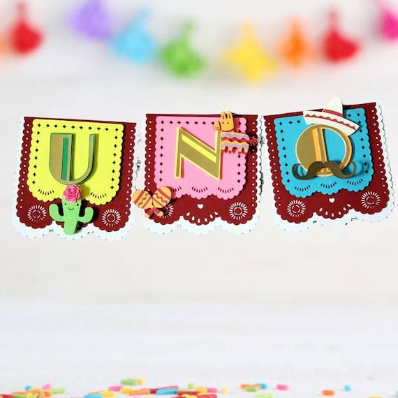 Fiesta Birthday Banners/ Fiesta Mexican Birthdays Decorations/ Fiesta high chair banner