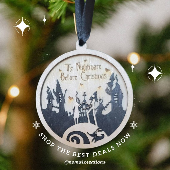 The Nightmare Before Christmas Wooden Ornament