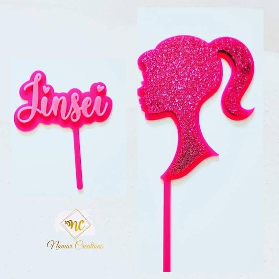 Barbie Cake Topper | Barbie Silouette Cake Topper | Acrylic Cake Topper/ Barbie Acrylic Cake Topper /Pink Acrylic Cake Topper