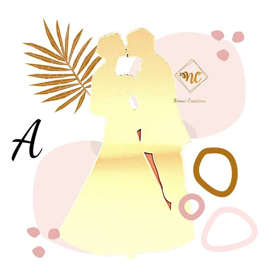 Couple Wedding Cake Toppers made in Acrylic, Wedding Cake Toppers, Silhouette Cake Topper for Wedding Cakes, Acrylic Wedding Cake Toppers