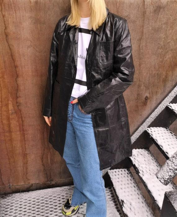 Vintage Black Real Leather Jacket / Real Leather C