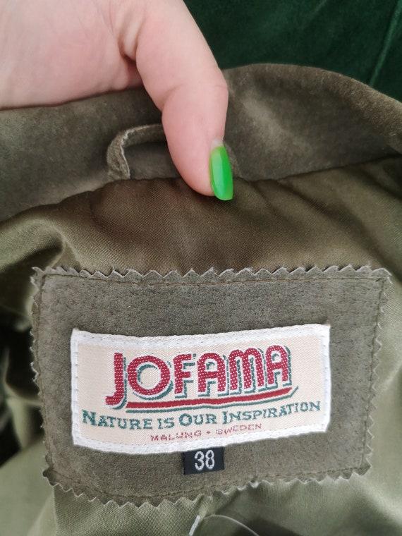 Oversized Suede Jacket / Green Leather Blazer / G… - image 5