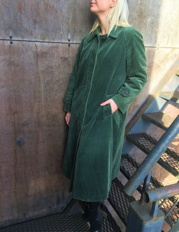 Long Velvet Coat / Corduroy Jacket / Oversized Cor