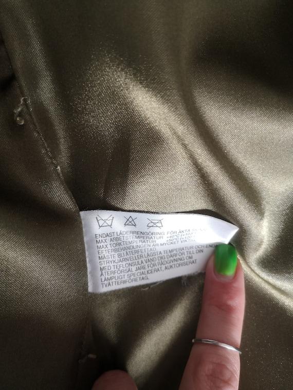 Oversized Suede Jacket / Green Leather Blazer / G… - image 7