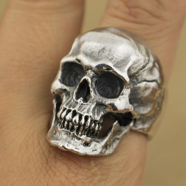 Silver Skull Ring men women sterling silver image 0