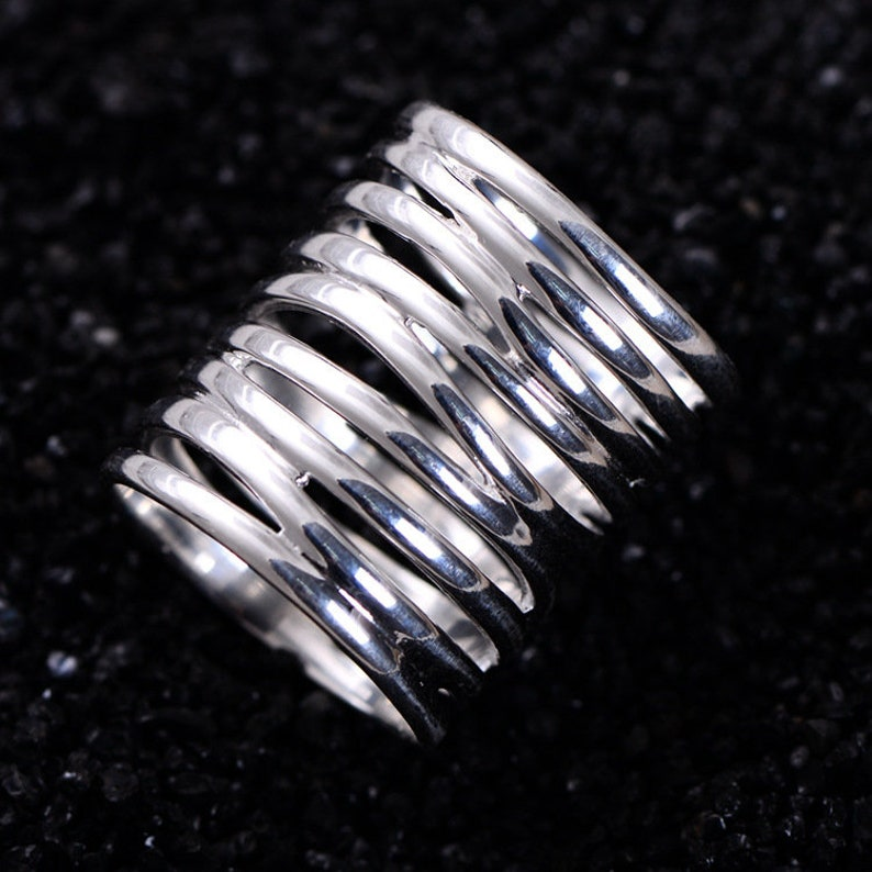 Spoon Ring Sterling Silver Spoon Ring Women Spiral Ring