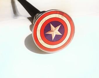 Hard Flex Rubber Captain America Cane Chrome Plated Handle BDSM Gear Impact Play Discipline