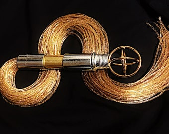 Ltd Edition Gold Flogger II Discipline Spanking- Impact Play BDSM