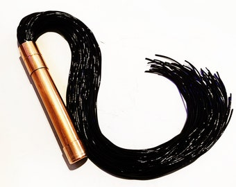 Black XTRA Flogger The  Copper Collection- spanking impact play BDSM Gear