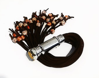 Beaded Leather Flogger Pocket Collection special ed. v5 spanking impact play BDSM Gear