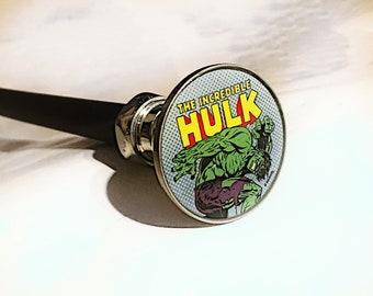 Hard Flex Rubber Incredible Hulk Cane Chrome Plated Handle BDSM Gear Impact Play Discipline